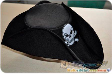 Как сделать пиратскую шляпу?