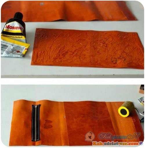 Как сделать кошелек из кожи