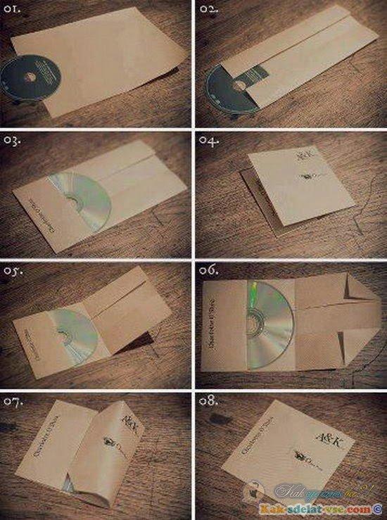 Как сделать конвертики из бумаги для дисков 344