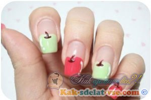 Как сделать квадратную форму ногтей?