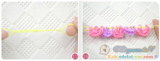 Как сделать цветок из резинок?