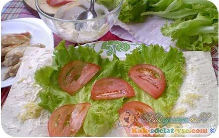 Цезарь ролл рецепт с фото пошагово