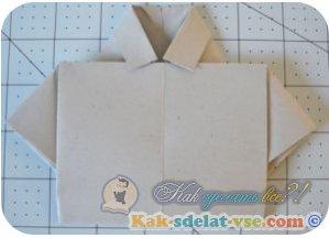 Как сделать рубашку из бумаги?