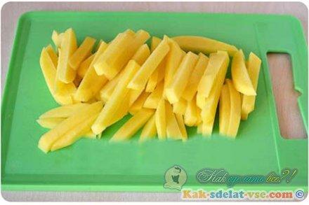 Как  приготовить картошку фри?