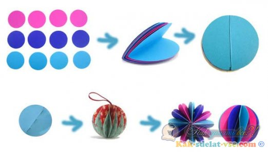 Как сделать шар из бумаги?