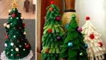 Как сделать елку из фетра?