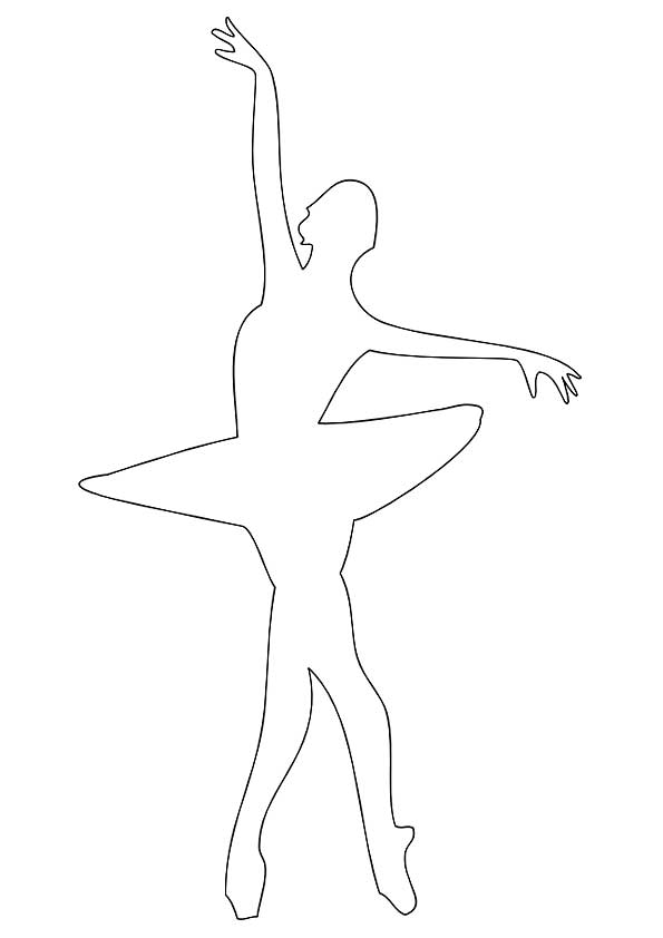 Шаблон снежинки балеринки скачать