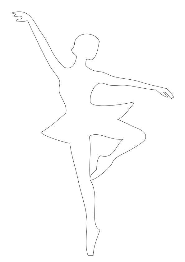 Скачать шаблоны снежинок балеринок для вырезания