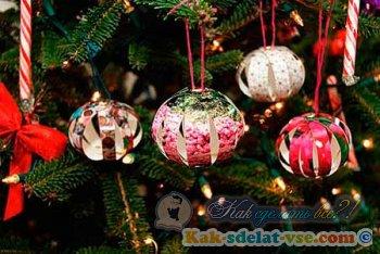 Как сделать новогоднюю игрушку картинки фото 535