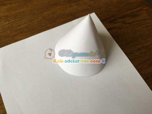 Как сделать конус из бумаги?