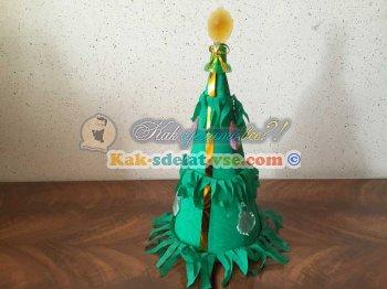 Как сделать елку из гофрированной бумаги?