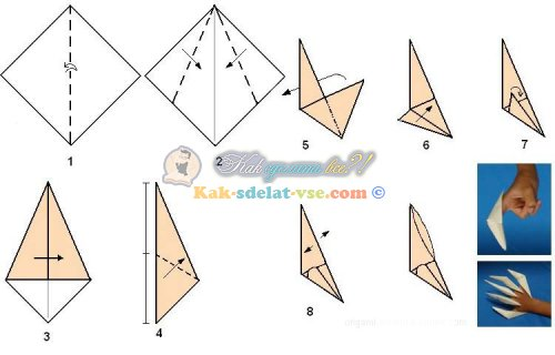 Оригами открытка для мамы видео 120