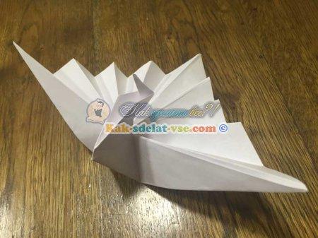 Видео как сделать лебедя из бумагу крылья
