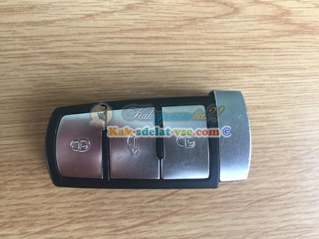 Замена батарейки в ключе Фольксваген.