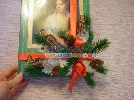 Как оформить коробку конфет к Новому году?