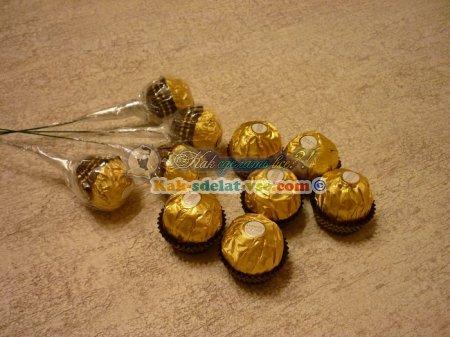 Как из конфет сделать букет для начинающих?