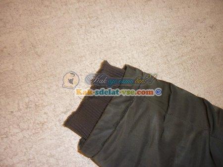 Как пришить рукав к куртке?