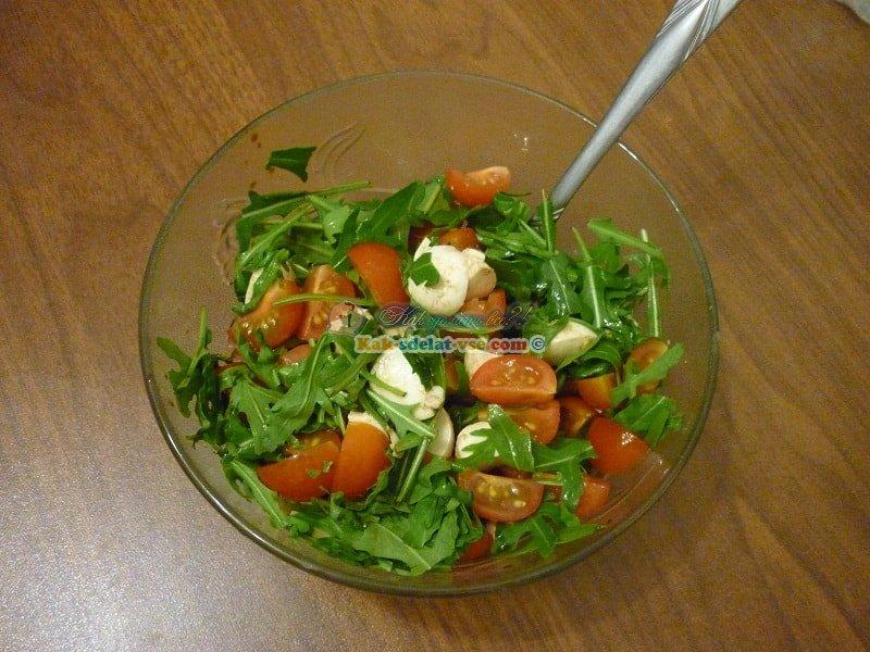 Как приготовить салат с руколой?