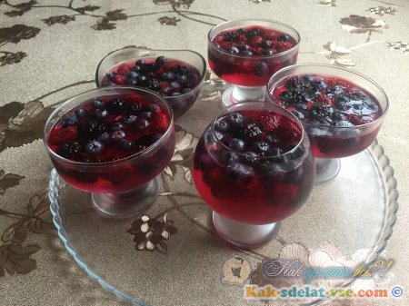 Желе из замороженных ягод. Рецепт желе.