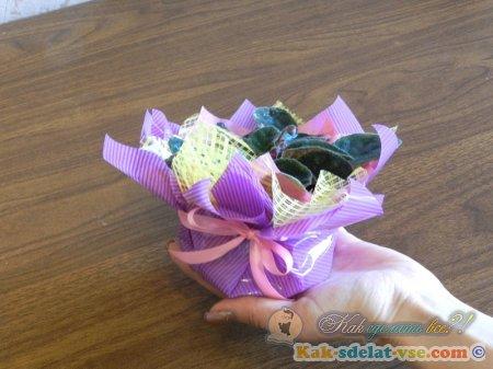 Как упаковать цветы. Мастер класс по флористике.