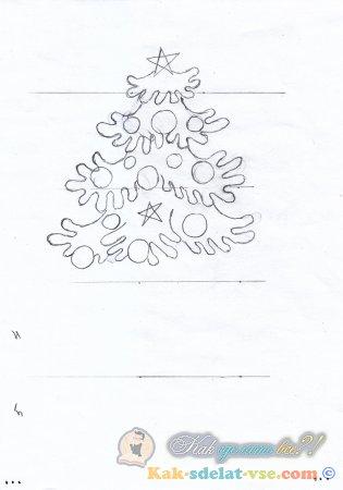 Как нарисовать ёлку поэтапно?