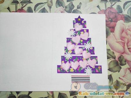 Новогодние открытки своими руками.