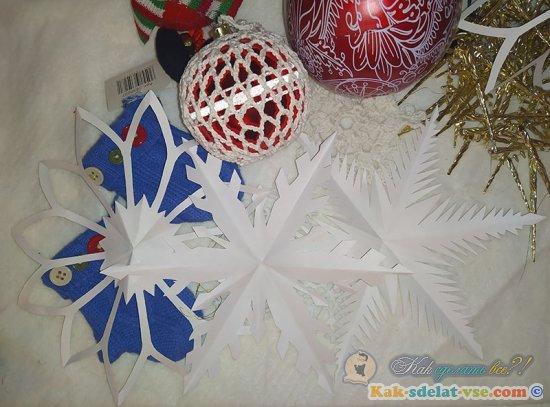 Необычные снежинки из бумаги своими руками.